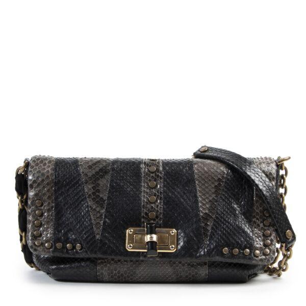Lanvin Python Patchwork Happy Bag