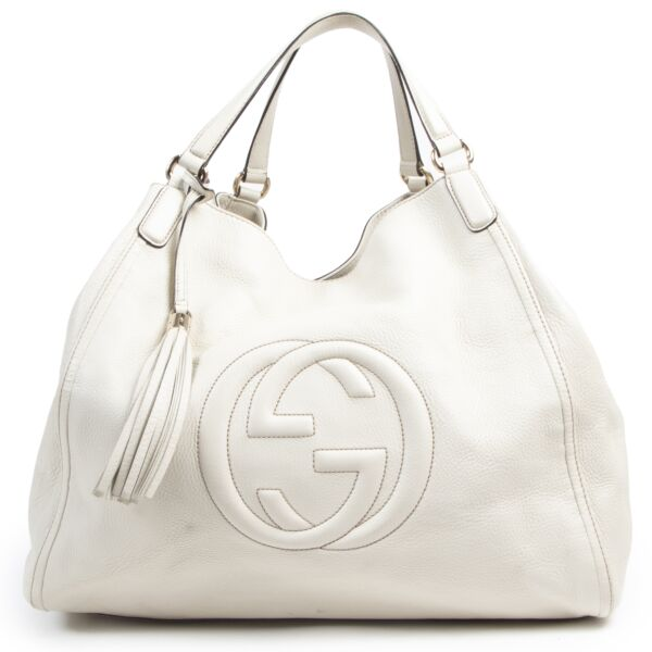 Gucci Soho Large Cream Shopper Bag for the best price at Labellov secondhand luxury