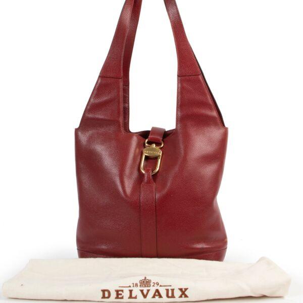 Delvaux Red Shoulder Bag