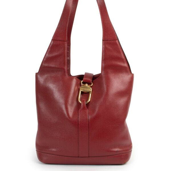 Shop safe online 100% authentic second hand Delvaux Red Shoulder Bag in very good condition at labellov in Antwerp.
