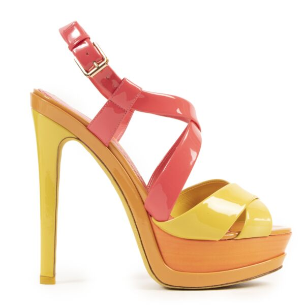 Dior Multicolor Platform Sandals for the best price at Labellov secondhand luxury
