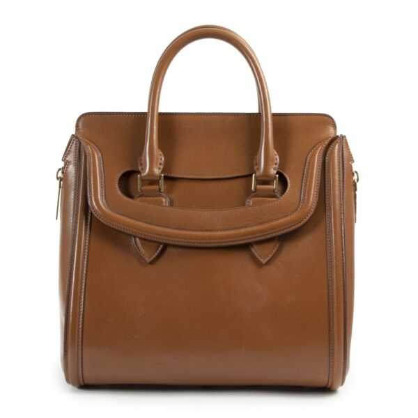 Alexander McQueen Heroine Camel Top Handle Bag for the best price at Labellov secondhand