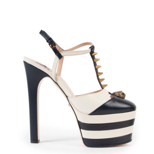 Gucci Angel Spiked Platform Sandals - Size 37.5