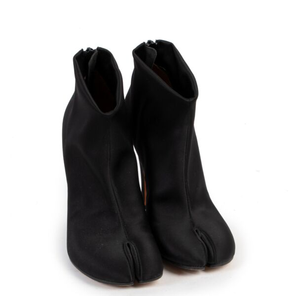 Maison Martin Margiela Black Satin Tabi Boots - size 36.5