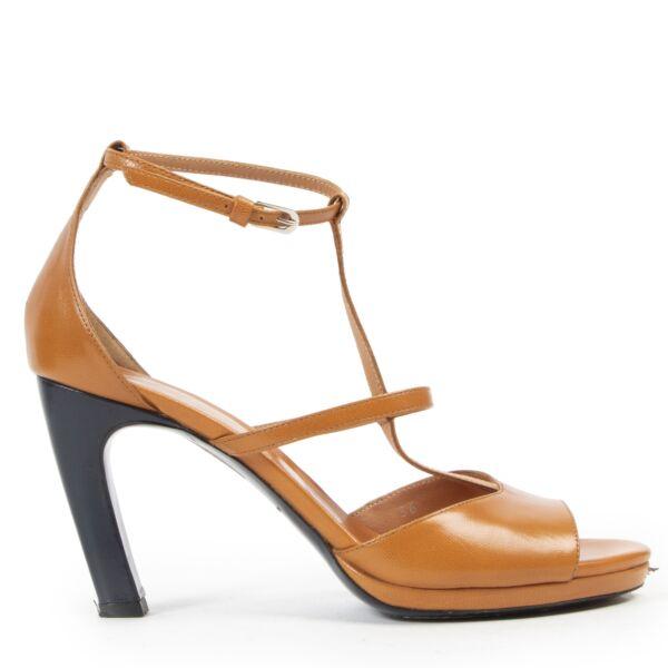 Dries Van Noten Orange Strappy Heeled Sandals for the best price at Labellov secondhand