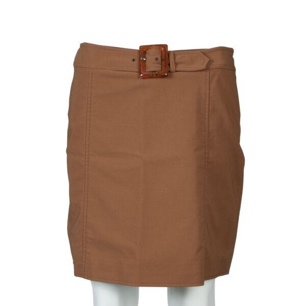 Prada Brown Nylon & Spandex Skirt - size 42