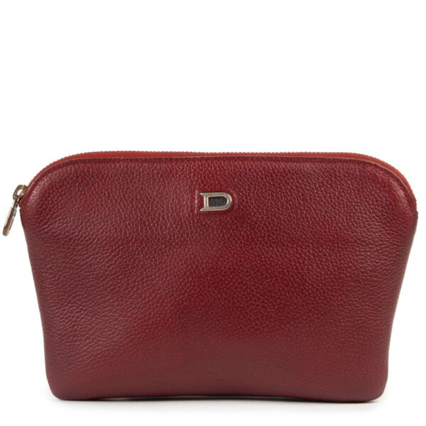 Shop safe online authentic second hand Delvaux Burgundy Pouch at Labellov.com.