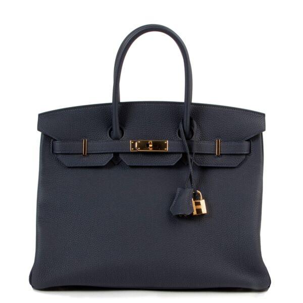 Hermès Birkin 35 Togo Bleu Nuit GHW for the best price at Labellov