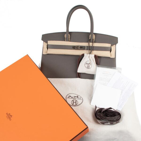 Hermès Birkin 35 Togo Etain PHW