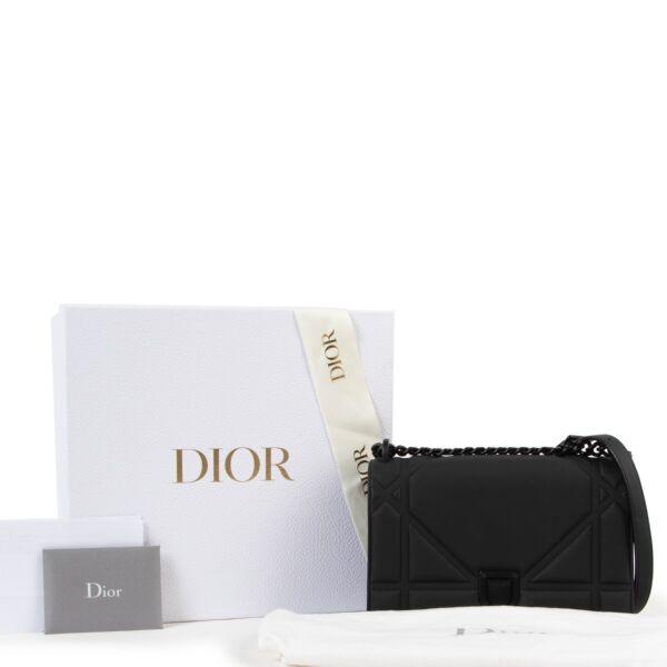 Dior All Black Calfskin Diorama Flap Bag