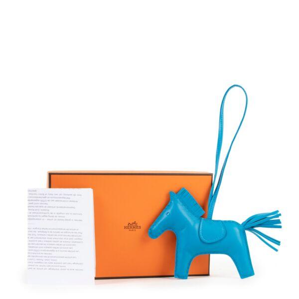Hermès Blue Zanzibar Rodeo Horse Bag Charm