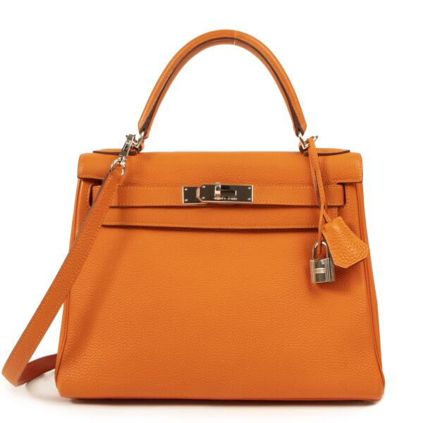 Hermes Kelly 28 Togo Orange PHW