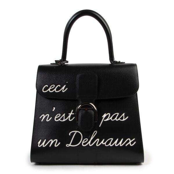 """As New Delvaux L'Humour Brillant MM """"Ceci N'est Pas Un Delvaux"""" Limited Edition"""
