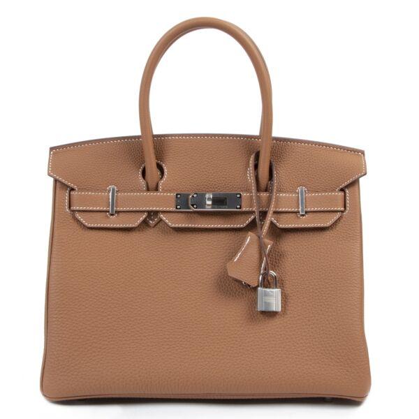 Hermès Birkin 30 Togo Gold PHW for the best price at Labellov secondhand luxury in Antwerp