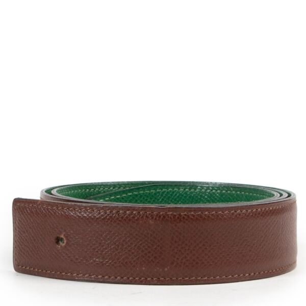 Buy online Hermès Green Reversible Belt in a safe way. Shop Hermès Green Reversible Belt in a safe way online. Buy vintage Hermès Green Reversible Belt online safely.