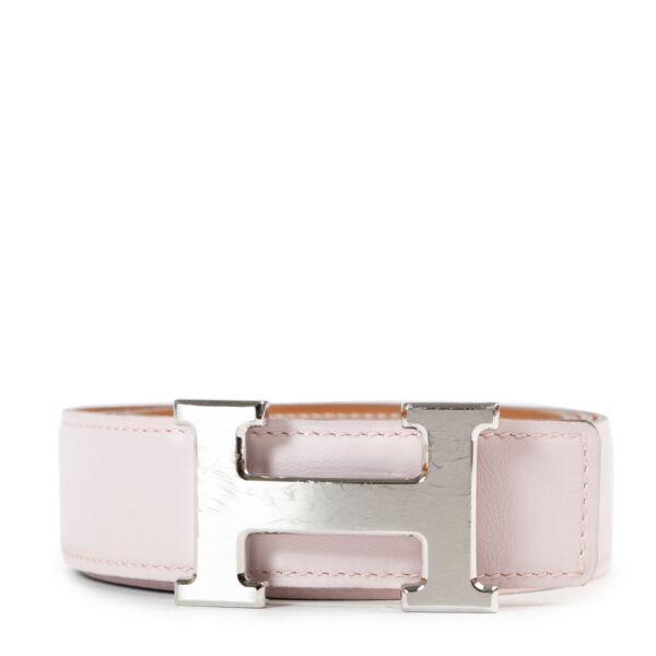 Buy online Hermès Pink/Brown Reversible Constance Belt - Size 90 in a safe way. Shop online Hermès Pink/Brown Reversible Constance Belt - Size 90 safely. Buy vintage Hermès Pink Costance Belt online in a safe way.