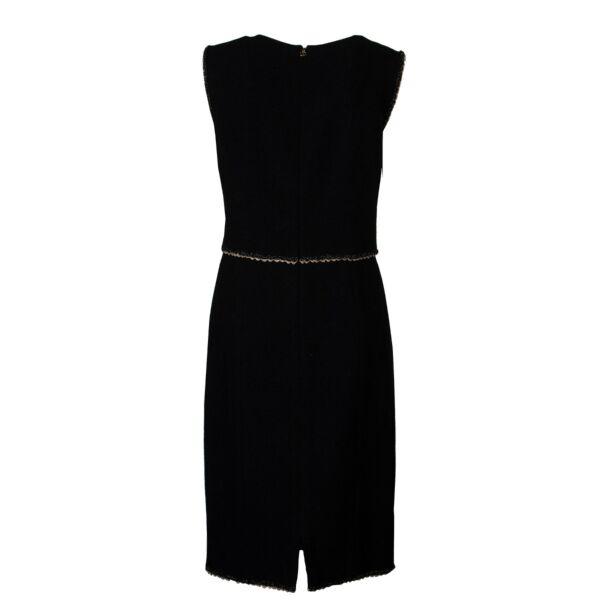 Chanel Black Tweed Dress - size 40