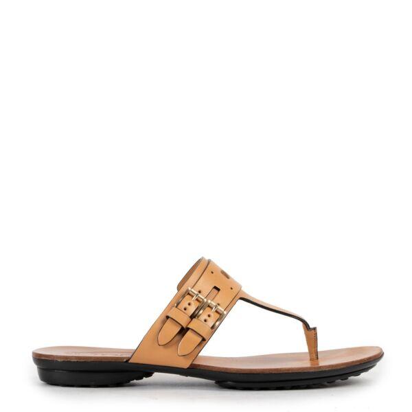 Tod's Cognac Sandals - Size 36