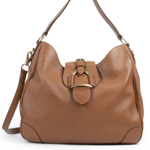 Authentieke Tweedehands Ralph Lauren Brown Shoulder Bag juiste prijs veilig online shoppen luxe merken webshopwinkelen Antwerpen België mode fashion