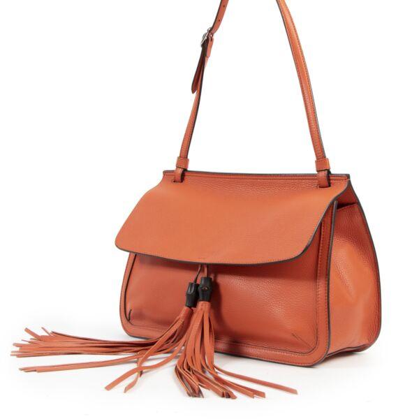 Gucci Orange Leather Shoulder Bag