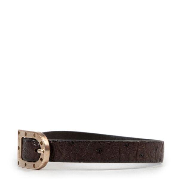 Delvaux Brown Leather D Bracelet