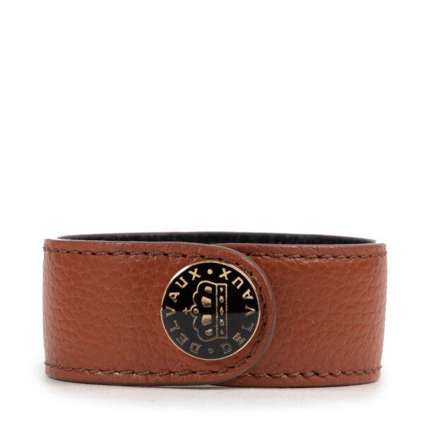 Delvaux Cognac Leather Bracelet