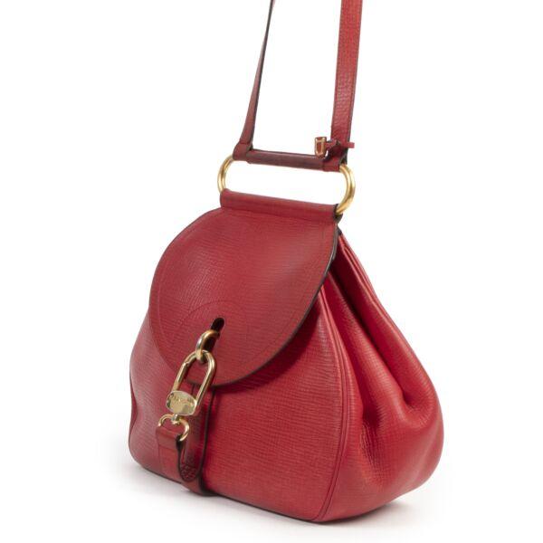 Delvaux Red Cerceau Shoulder Bag