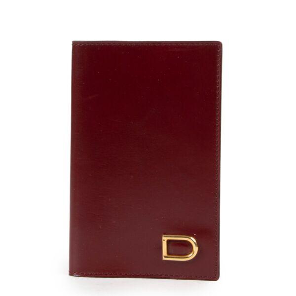 Delvaux Burgundy Address Book