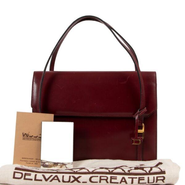 Delvaux Burgundy Top Handle