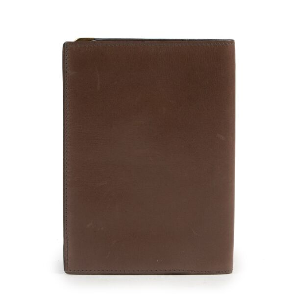 Delvaux Taupe Leather Wallet