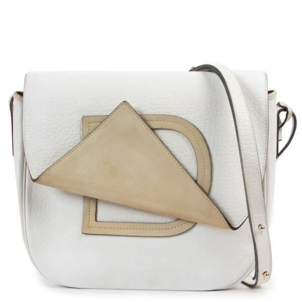 Delvaux White and Green Crossbody