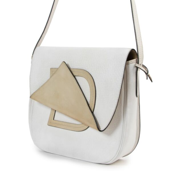 Delvaux White and Beige Crossbody