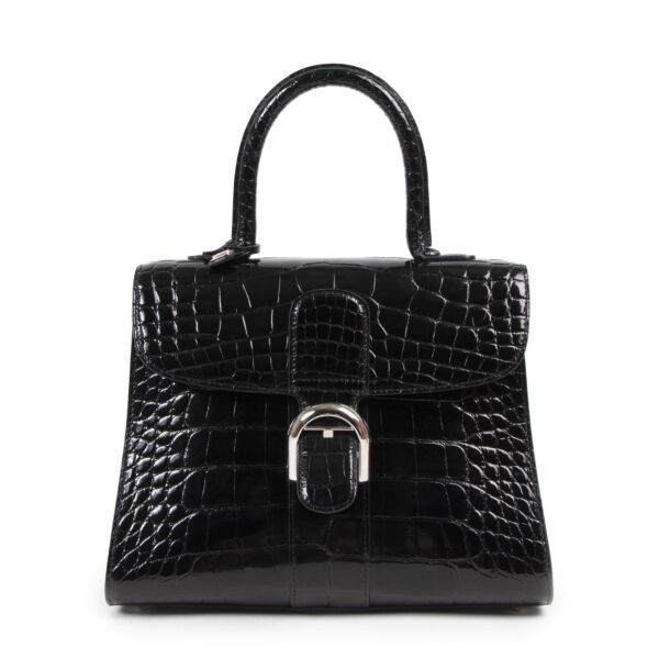 Delvaux Black Alligator Brillant MM with bandouliere for the best price at Labellov