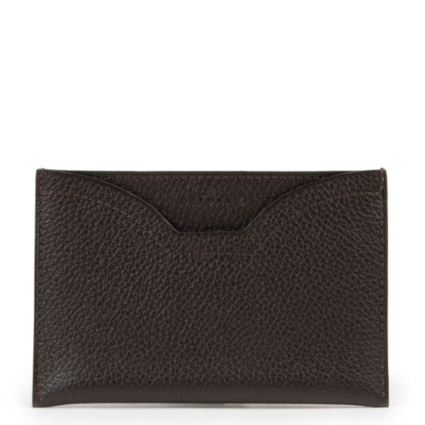 Delvaux Brown Windsor Jumping Card Holder