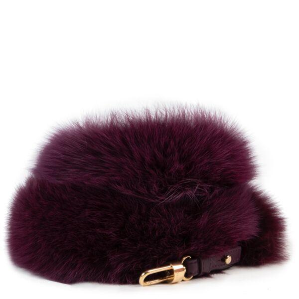 koop veilig online tegen de beste prijs Delvaux fur strap