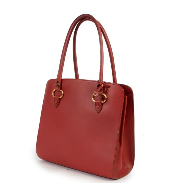 Delvaux Red Top handle
