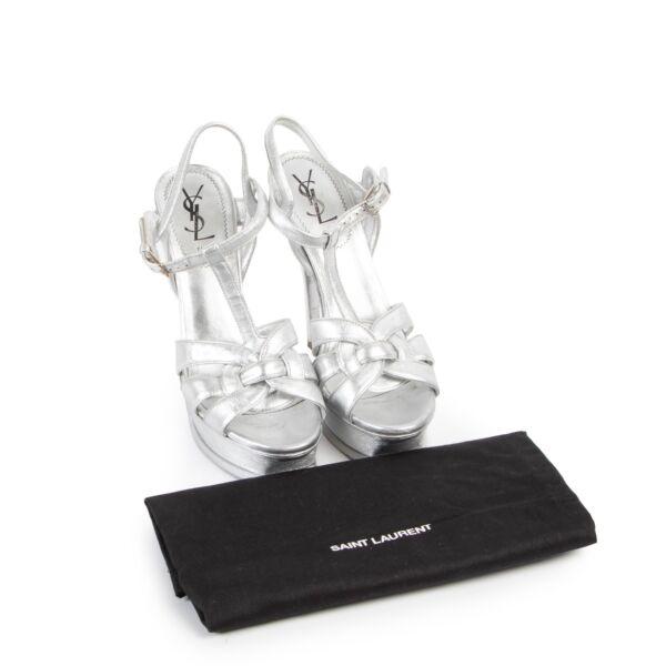 Yves Saint Laurent Silver Tribute Pumps - Size 39