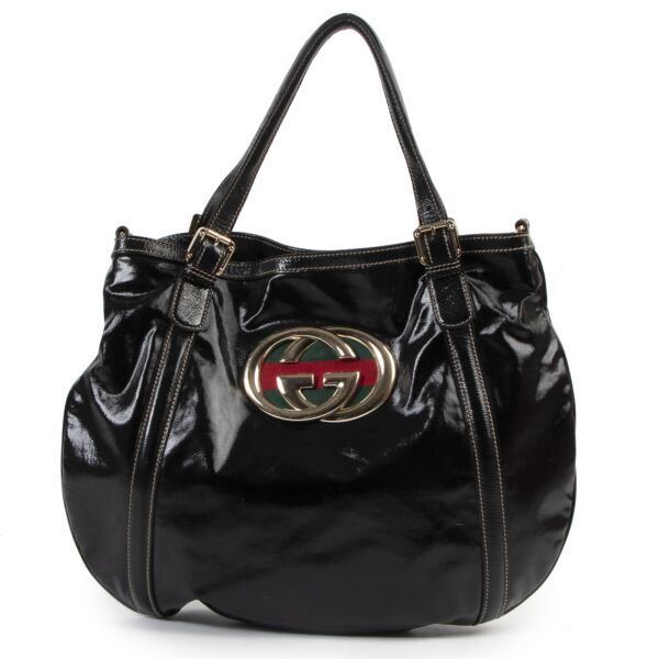 Gucci Black Coated Web Bag for the best price at Labellov secondhand luxury