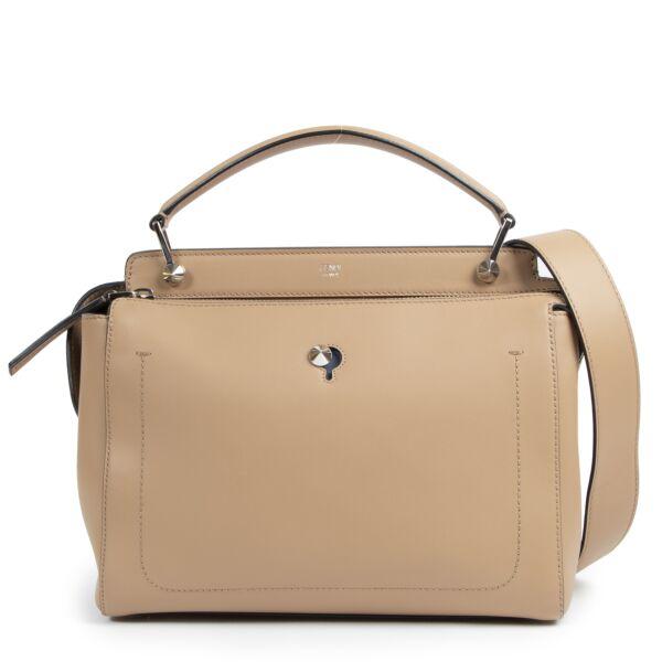 Fendi Beige Leather Dotcom Top Handle Bag te koop bij Labellov tweedehands luxe in Antwerpen