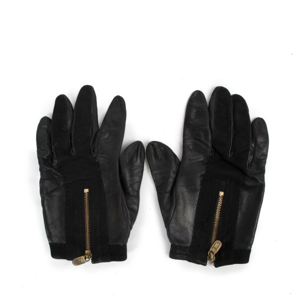 Delvaux Black Leather Gloves for the best price at Labellov secondhand