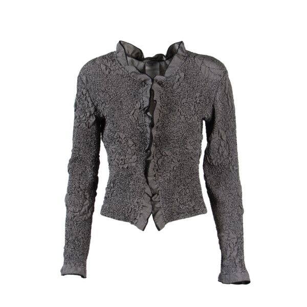 Chanel Black And White Jacket - Size 38