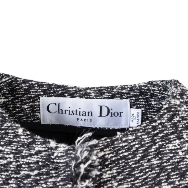Christian Dior Black Tweed Jacket - Size Fr 36