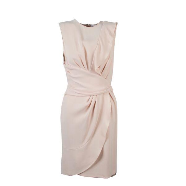 Christian Dior Nude Silk Dress - Size FR 36