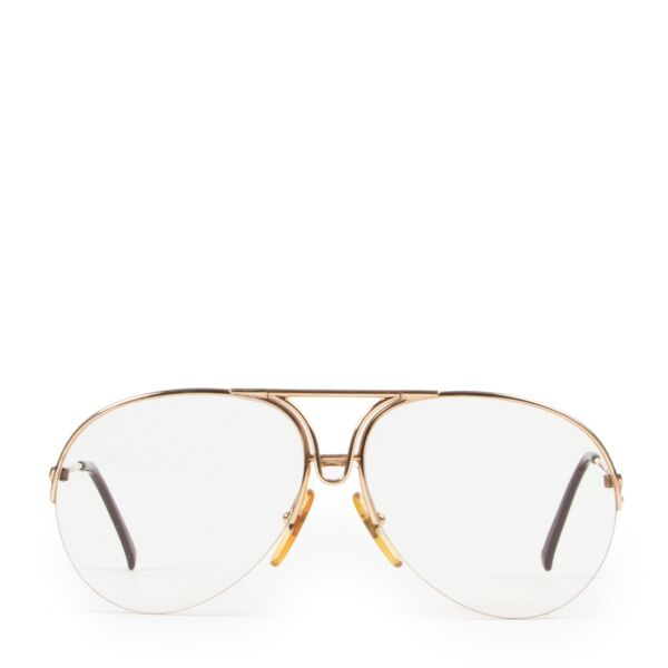 Shop safe online at Labellov in Antwerp this 100% authentic second hand Porsche Carrera Gold Glasses
