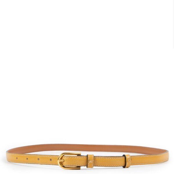 Delvaux Yellow Belt - Size 80