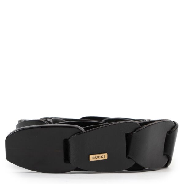 Shop safe online at Labellov in Antwerp this 100% authentic second hand Gucci Black Belt - Size 80