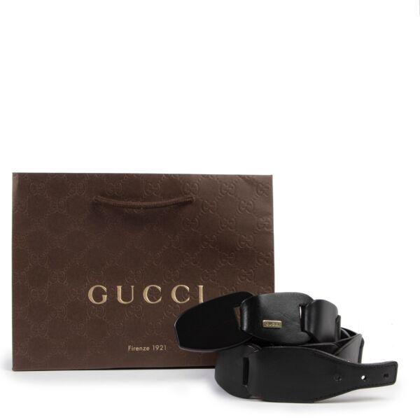 Gucci Black Belt - Size 80