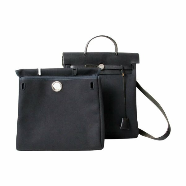 Hermes Black Herbag 2 in 1 Backpack