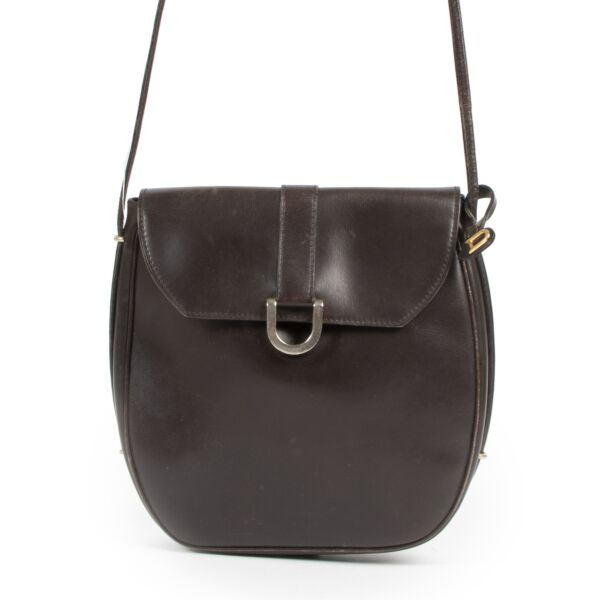 Delvaux Vintage Brown Crossbody Bag for the best price at labellov secondhand luxury