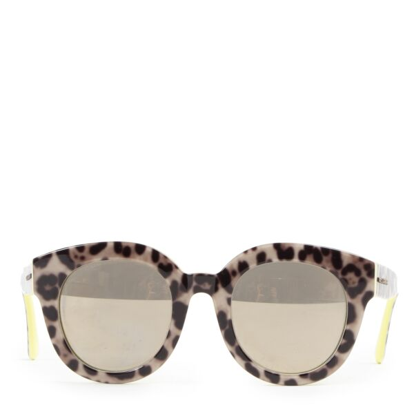 Dolce & Gabbana Leopard and Yellow Sunglasses
